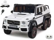 Elektrické auto džíp Mercedes G63 AMG s 2,4G, 4x4, bílý, 6 kol