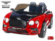 Elektrické auto Bentley Continental Supersports s 2.4G, lakované červené, černé kapoty