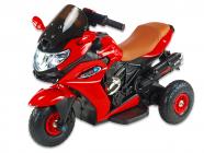Elektrická tříkolka Dragon s plynovou rukojetí, nožní brzdou, gumovými nafukovacími koly, červená