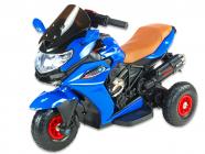 Elektrická tříkolka Dragon s plynovou rukojetí, nožní brzdou, gumovými nafukovacími koly, modrá