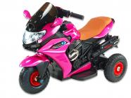 Elektrická tříkolka Dragon s plynovou rukojetí, nožní brzdou, gumovými nafukovacími koly, růžová