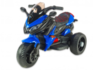 Elektrická tříkolka cestovní BNM s plynovou rukojetí a nožní brzdou, modrá