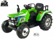 Elektrický traktor Big Farm s 2,4G, největší traktor, zelený