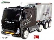 Elektrické auto Kamion Truck Champion s návěsem a kontejnerem s 2,4G, 4x4, černý