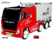 Elektrické auto Kamion Truck Champion s návěsem a kontejnerem s 2,4G, 4x4, červený