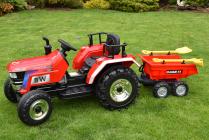 Elektrický traktor Big Farm s 2,4G největší traktor - 3 barvy, 4 kolový vlek - 4 barvy, cisterna Joskin