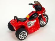 Elektrická tříkolka Chopper Harleyek na masivních kolech, 6V, červený