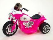Elektrická tříkolka Chopper Harleyek na masivních kolech, 6V, růžový