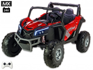 Elektrická Bugina UTV - MX s 2,4G, dvoumístná, 24V/2x200W, polymer spider červená