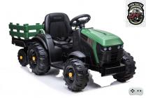 Elektrický Farmářský traktor s 2,4G, vlekem a lopatou, zelený