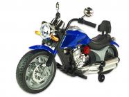 Elektrická motorka chopper Route 66, lakovaný modrý