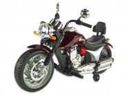 Elektrická motorka chopper Route 66, lakovaný vínový