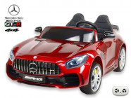 Elektrické auto Mercedes AMG GT-R s 2,4G, 4x4, dvoumístný, vínová metalíza