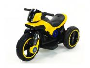 Elektrická tříkolka fantastická POLICE na velikých EVA kolech, atraktivní design, USB,TF,Mp3, 2x náhon, 2 motory 6V, žlutá