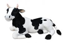 Plyšová ležící kráva, délka 87cm, výška 52cm