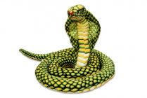 Plyšový had kobra zelená, délka 280 cm