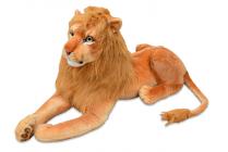 Plyšový ležící lev, délka 178cm, výška 66cm