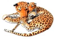 Plyšová leopardice s mládětem, délka 140/65cm