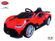Elektrické auto Bugatti Divo s 2.4G, luxusní sporťák, červená barva plast