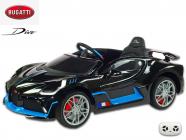 Elektrické auto Bugatti Divo s 2.4G, luxusní sporťák, lakovaný černou metalízou