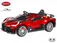 Elektrické auto Bugatti Divo s 2.4G, luxusní sporťák, lakovaný vínovou metalízou