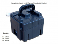 Náhradní box s 2x bateriemi 12V/7Ah pro Mercedes G63 6 kolový, s nabíjením mimo auta