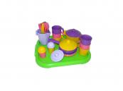 Dětské plastové nádobí pro 6 osob s tácem