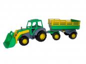 Traktor Mistr nakladač s přívěsem