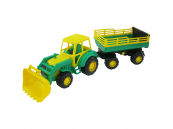 Traktor Altaj, nakladač s přívěsem