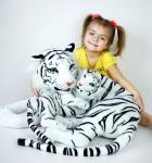 Plyšová bílá tygřice s mládětem