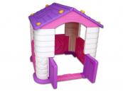 Hrací plastový domeček fialový