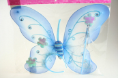 Motýlí křídla modrá s doplňky - karneval