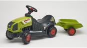 Odrážedlo traktor Baby Claas Axos 340 s 2 kolovým valníkem
