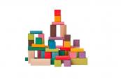 Kostky barevné -Woody - 50 ks