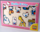 Dřevěné puzzle Hello Kitty SES