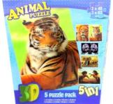 Puzzle Divoká zvířata 3D 5v1