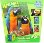 Puzzle Tropičtí ptáci 3D 3v1