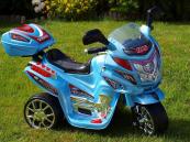 Elektrická motorka dálniční policie, střední velikost modrá