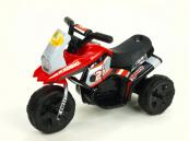 Elektrická motorka Racing sport 6V červená