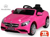 Elektrické auto Mercedes-Benz S63 AMG s DO růžové