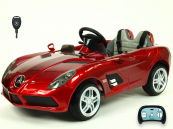 Elektrické auto Mercedes-Benz SLR Mc Laren Stirling Moss s 2.4G bluetooth DO vínové