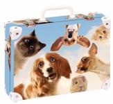 Kufřík Vtipná zvířata velký okovaný