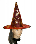 Čarodějnický klobouk červený
