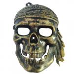 Maska karnevalová - Pirát lebka zlatá