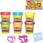 Play-Doh třpytivá modelína 6ks s formičkami