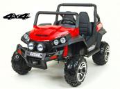 Elektrická Bugyna dvoumístná Bugi V-Twin 4x4 - červená