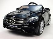 Elektrické auto Mercedes S63 - Černý lakovaný