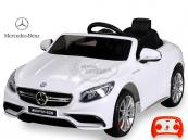 Elektrické auto Mercedes S63 - Bílý lakovaný