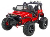 Elektrické auto džíp Brothers, 24v, 2x200W, červené
