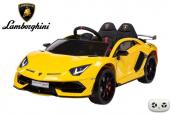 Elektrické auto Lamborghini Aventador s 2,4G, lakované žluté